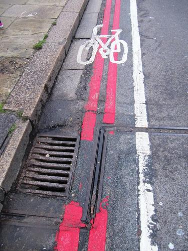 bike lane gutter