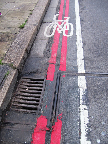bike lane gutter