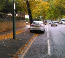 car in bike lane
